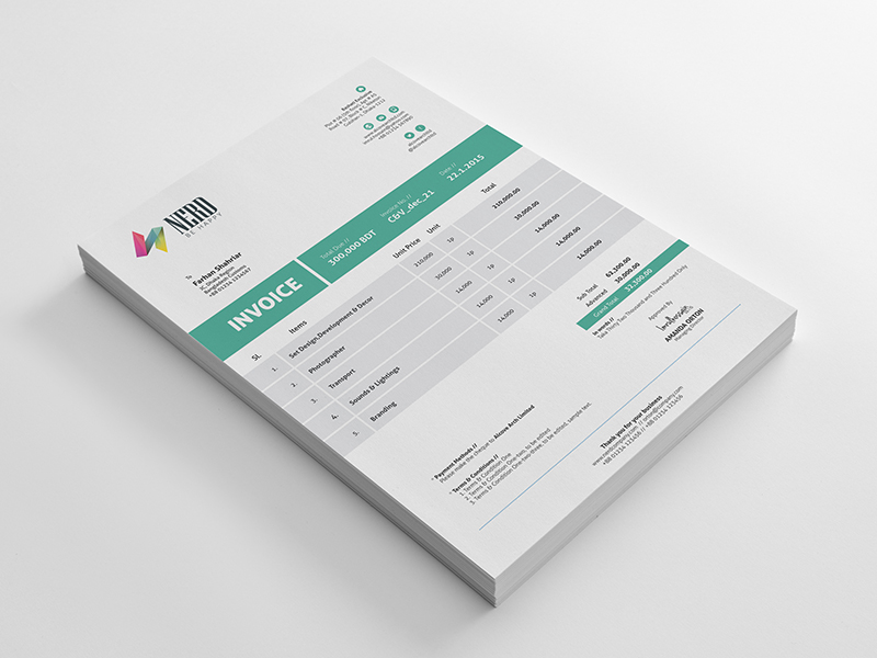 Invoice Templates PSD DOCX INDD Free Download PSDTemplatesBlog - Templates for billing invoice
