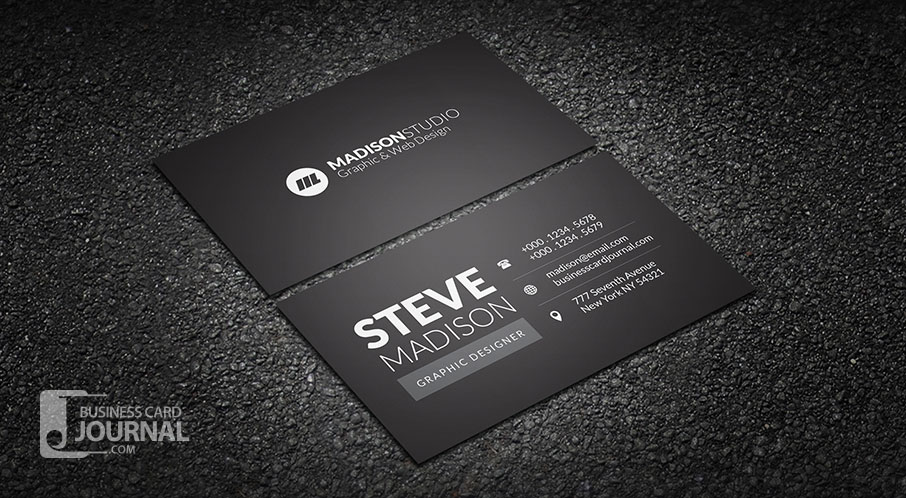 Black Colour Business Cards Images Card Design And Card Template - Business cards free design templates