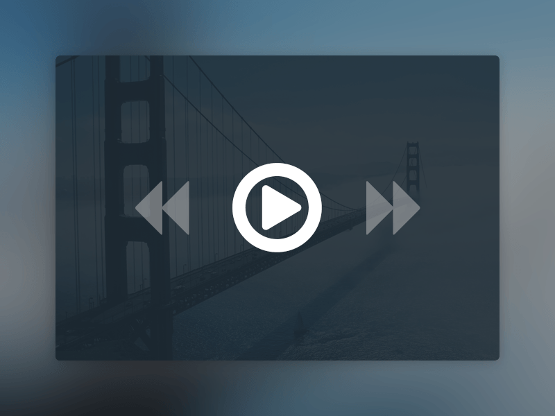 Free Minimal Video Player UI PSD Download