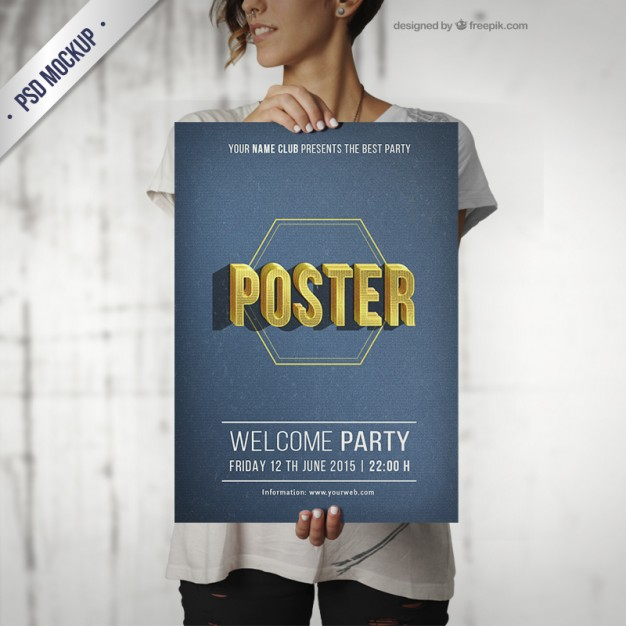 28+ Free PSD Poster Mockup Templates for Designers - PSD
