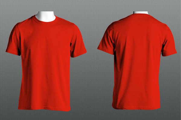 Free Tee Mockup PSD Front And Back
