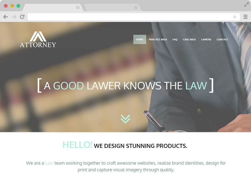 Attorney - A Free Lawyer Website HTML5 Template with Bootstrap 3