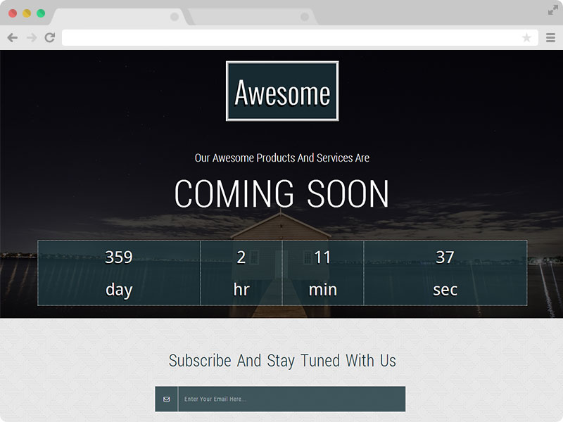 Awesome - A Free Responsive Coming Soon Template