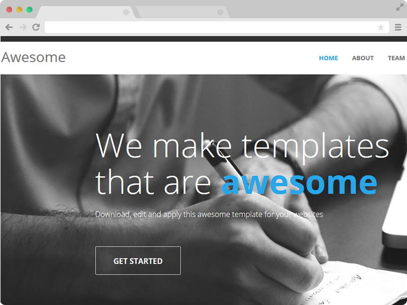 Awesome - Free One Page Responsive HTML5 Template