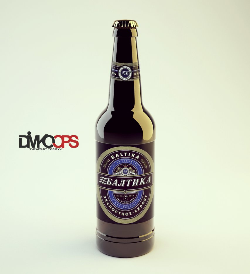 Bottle Beer Free mockup PSD