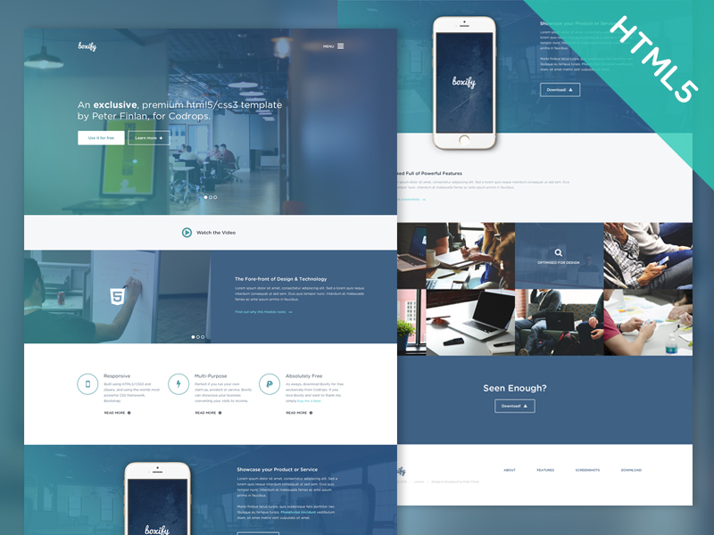 Boxify - Free HTML5 and CSS3 Website Template