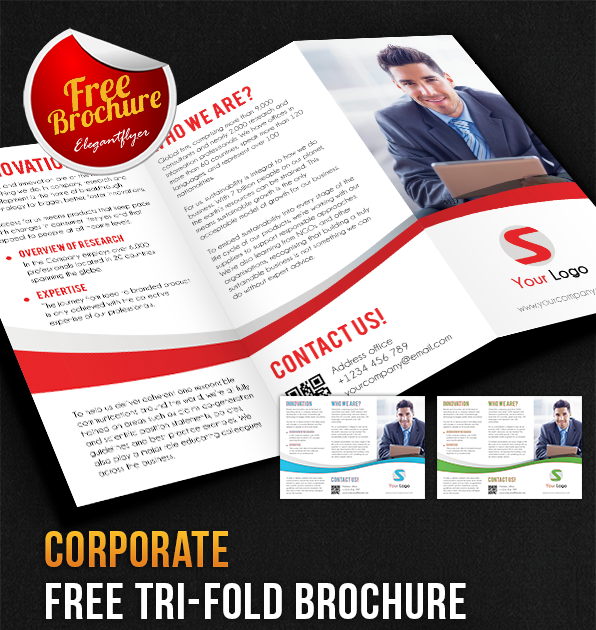 Corporate Tri-Fold Brochure PSD Template