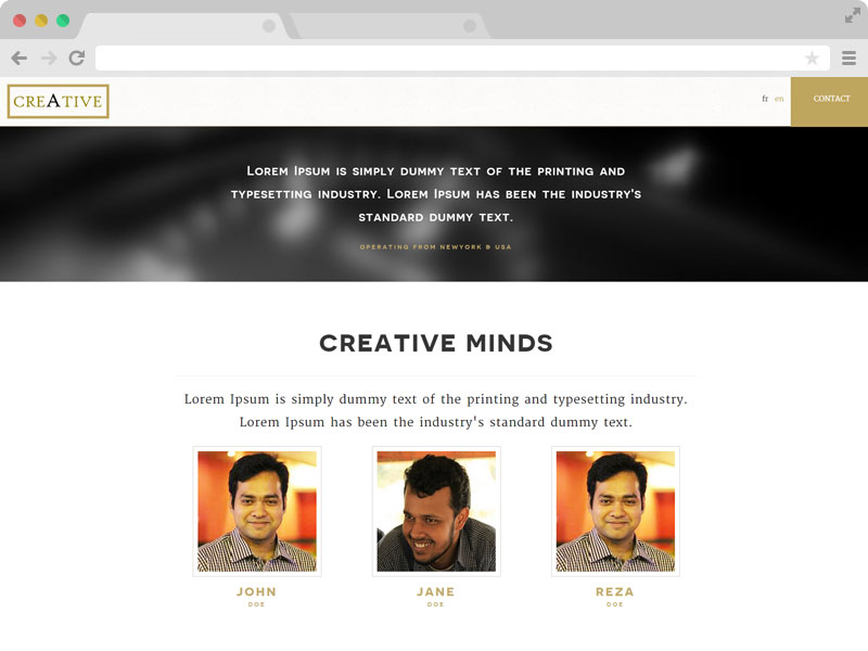 Creative - Multilingual Creative Agency Template with Bootstrap & HTML5