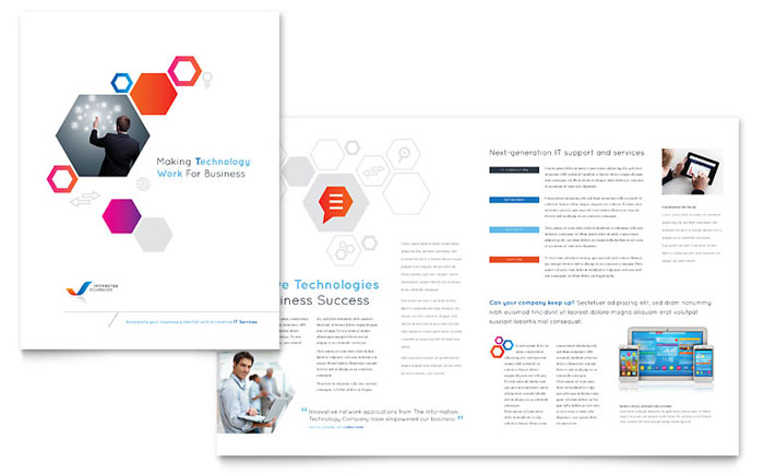 Free Technology Brochure Template