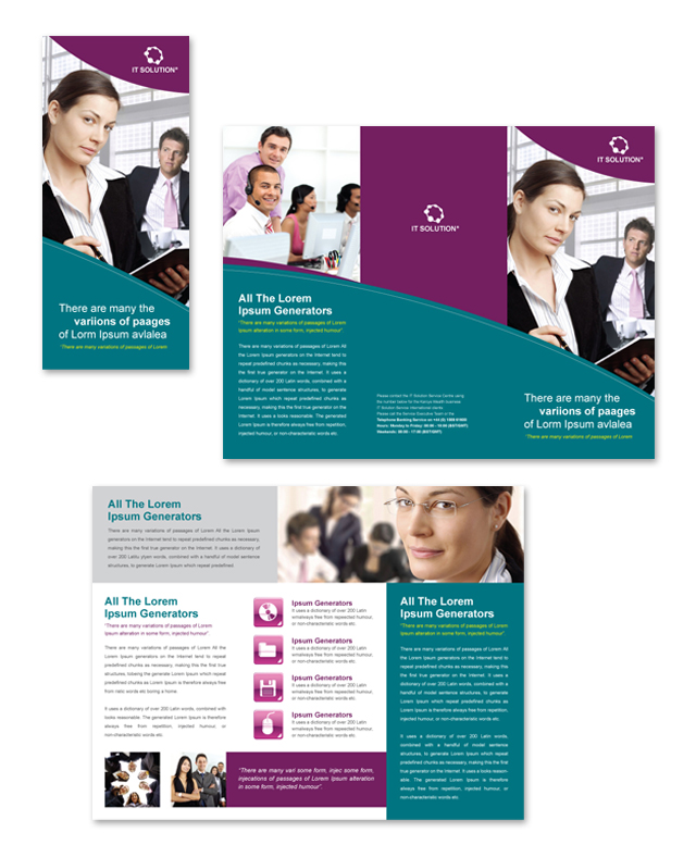 Free Tri Fold Brochure Template AI and MS Word