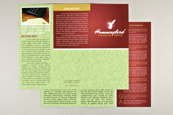 General Tri-Fold Business Brochure InDesign Template