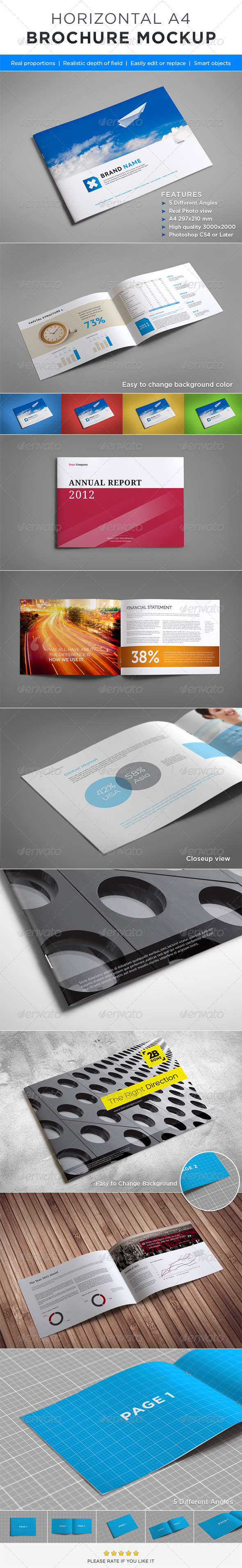 Horizontal Brochure Mock-up