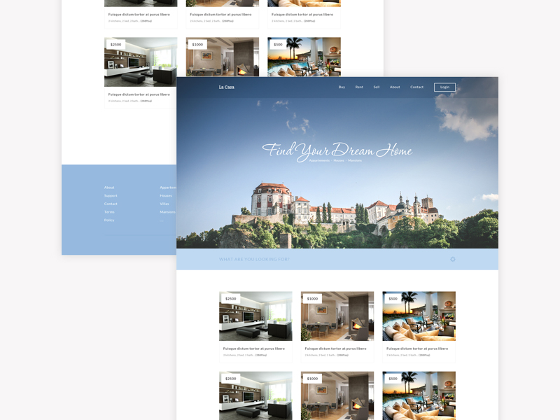 La Casa - free fully responsive Html5 and Css3 Real Estate Home Page Template