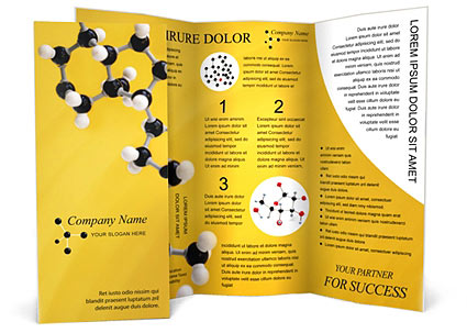 Molecular Model Brochure Template