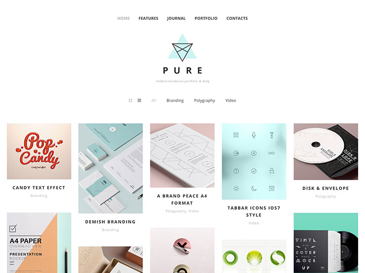 Pure WordPress Portfolio Theme