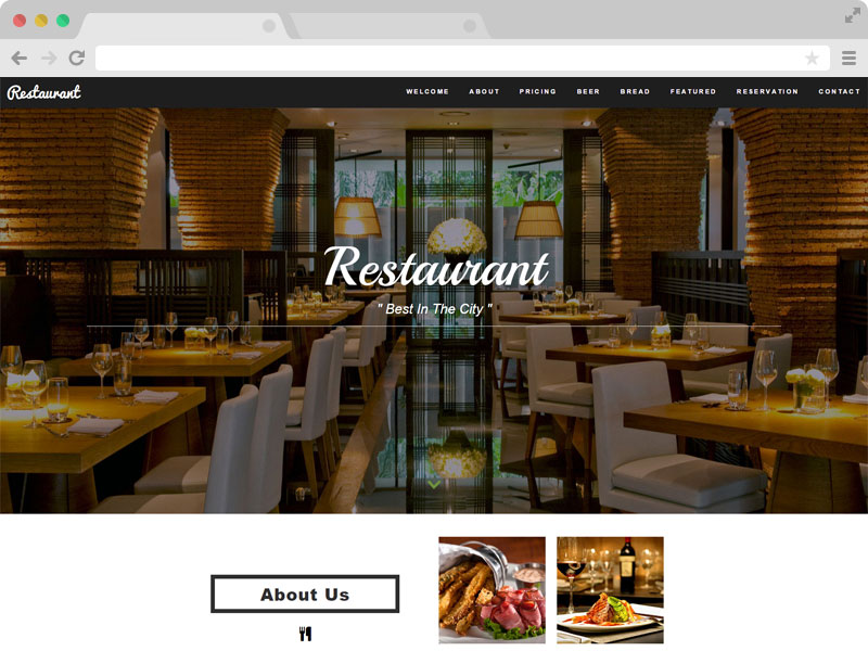 Restaurant - A Free Restaurant Cafe HTML5 Template with Bootstrap 3