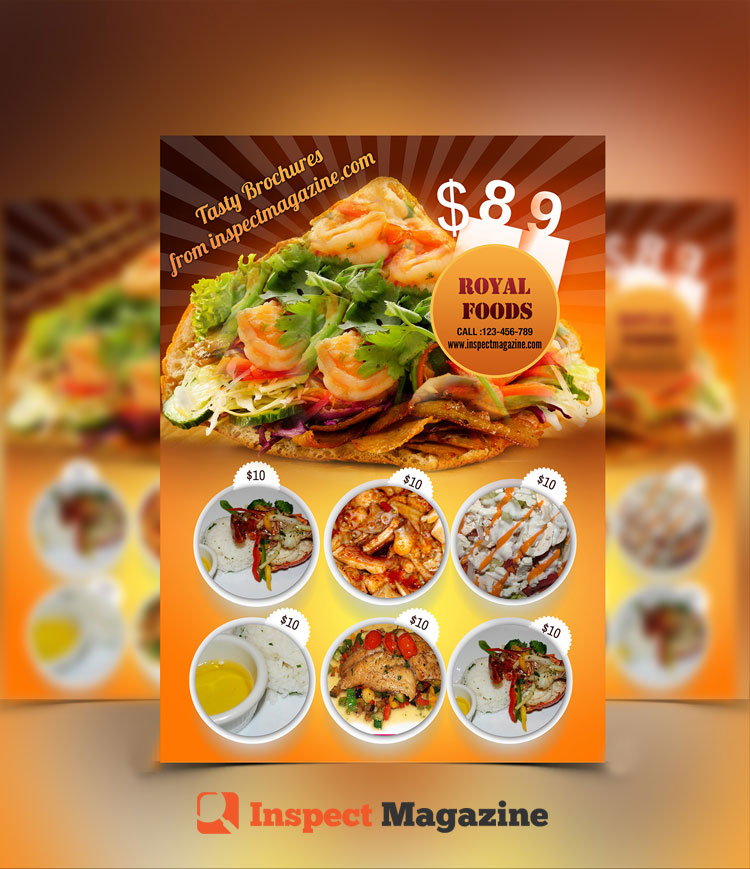 Restaurant Brochure cum Menu PSD Template