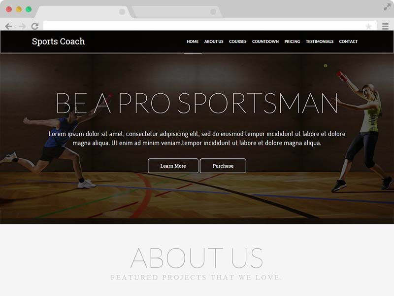 Sports Coach - A Free Coaching Website HTML5 Template
