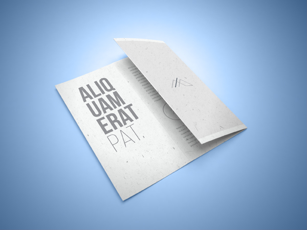 Tri-fold Brochure Mockup with Smart PSD