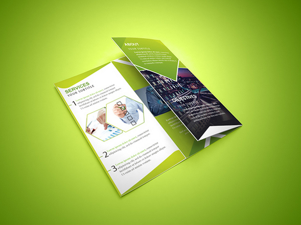 Tri-fold Free Brochure PSD Template For Corporates