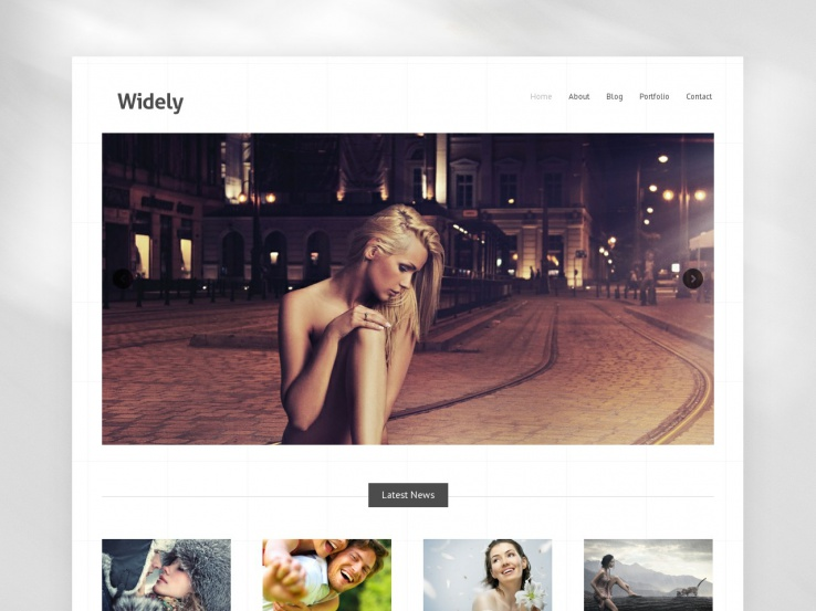 Widely WordPress Portfolio Theme
