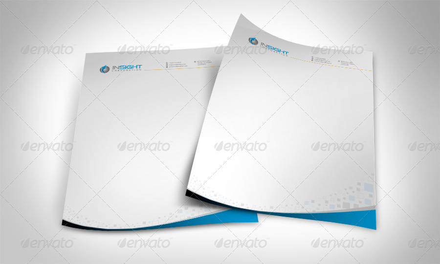 8 Corporate Letterhead With MS Word Doc