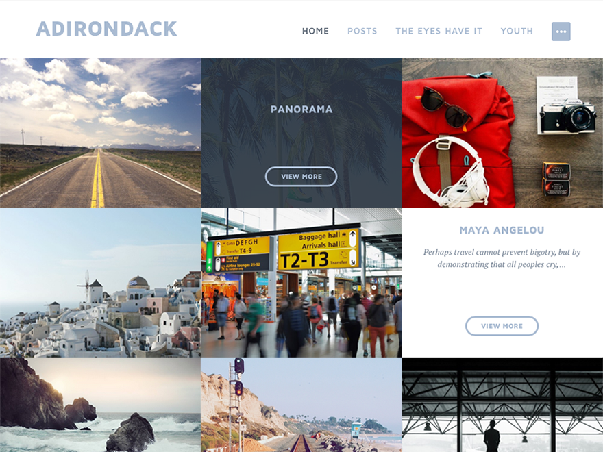 Adirondack WordPress Photography Theme