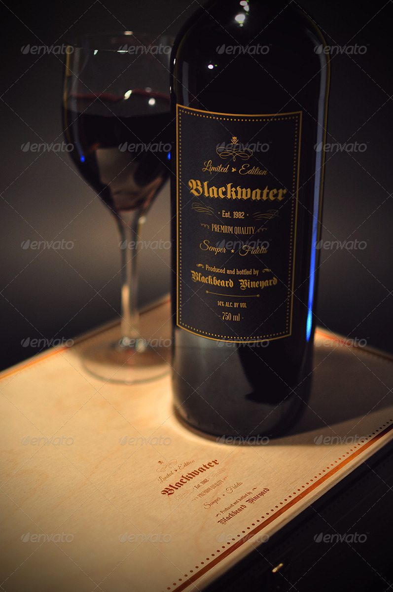 Blackwater Wine Mockup