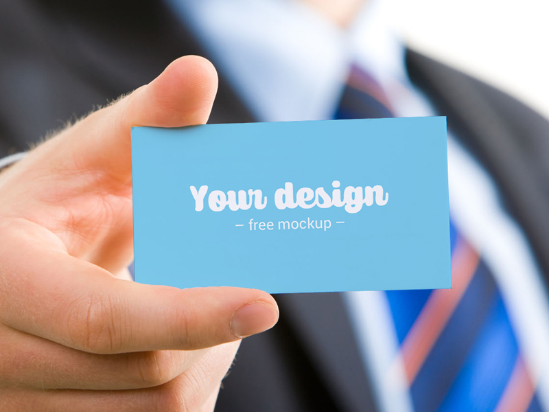 Business Card Free Mockup PSD