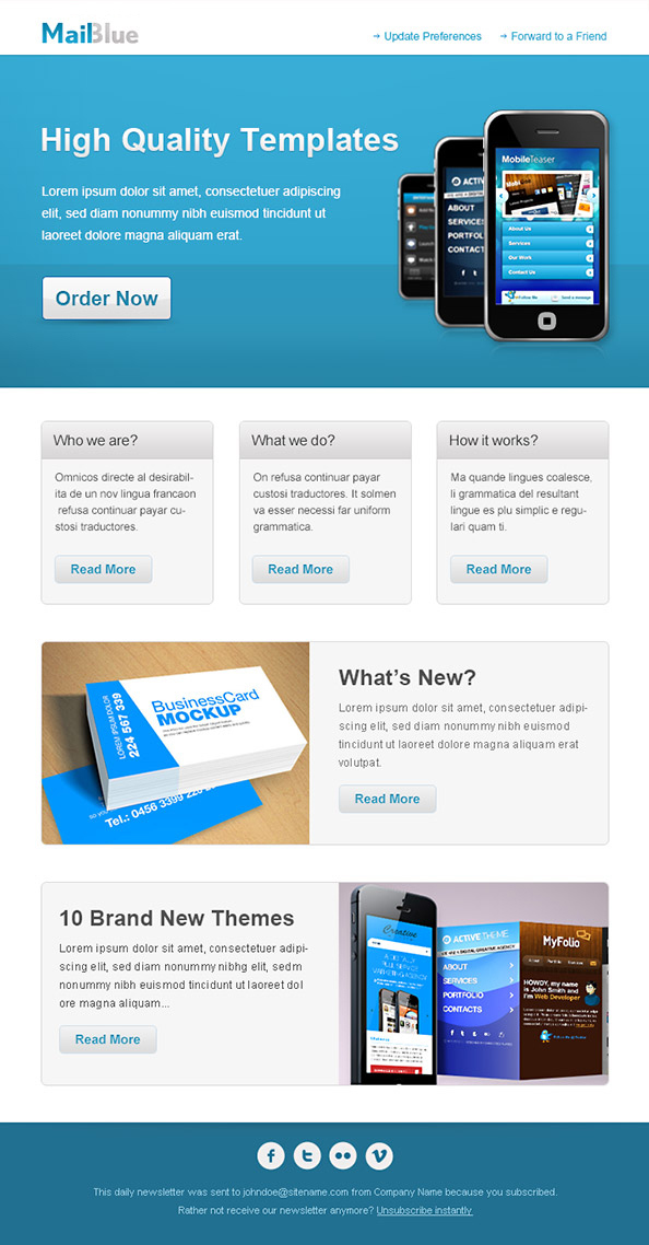 Business Email Newsletter Template