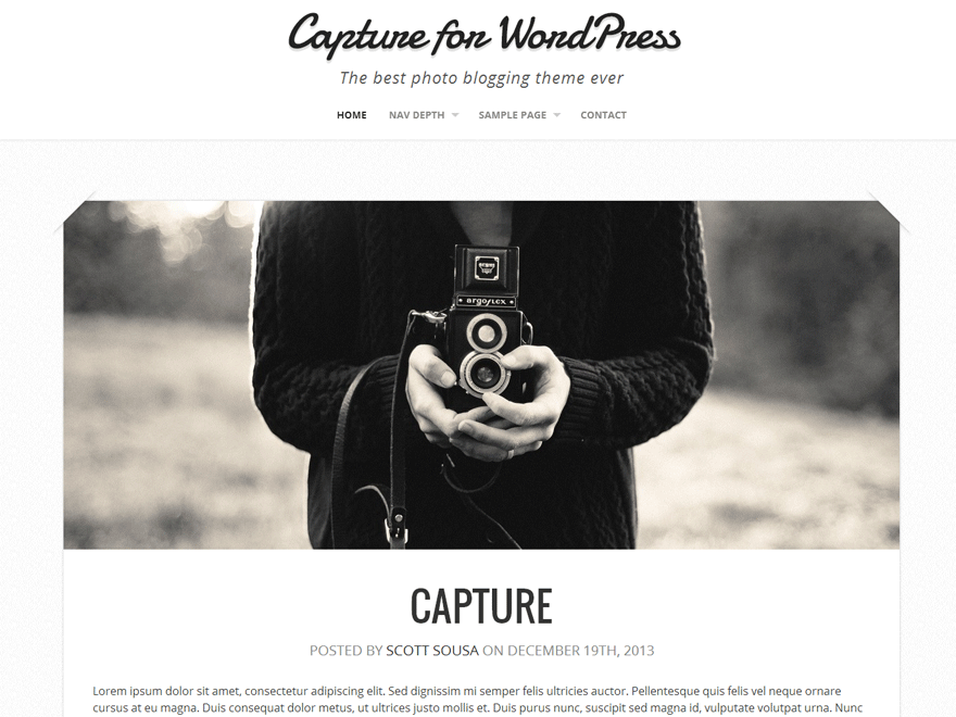 Capture WordPress Photography Theme