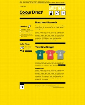 Colour Direct Email Newsletter Template