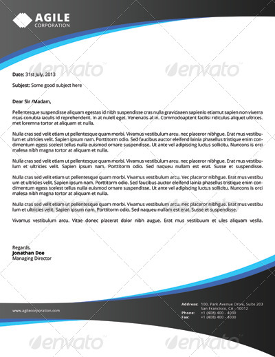 Corporate Letterhead vol 1 with MS Word