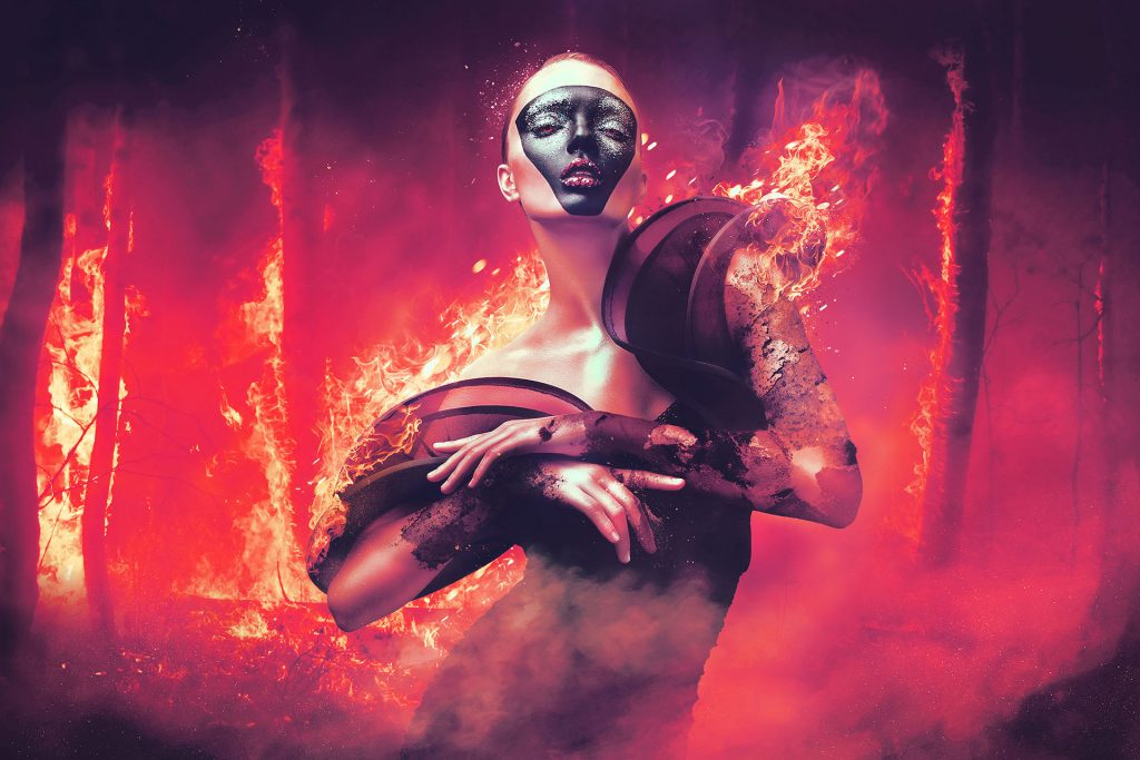 Create Burnt Lady Photo Manipulation in Photoshop