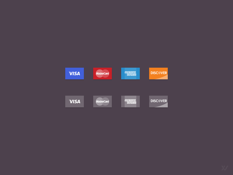 Credit Card Icons FREE PSD Vector