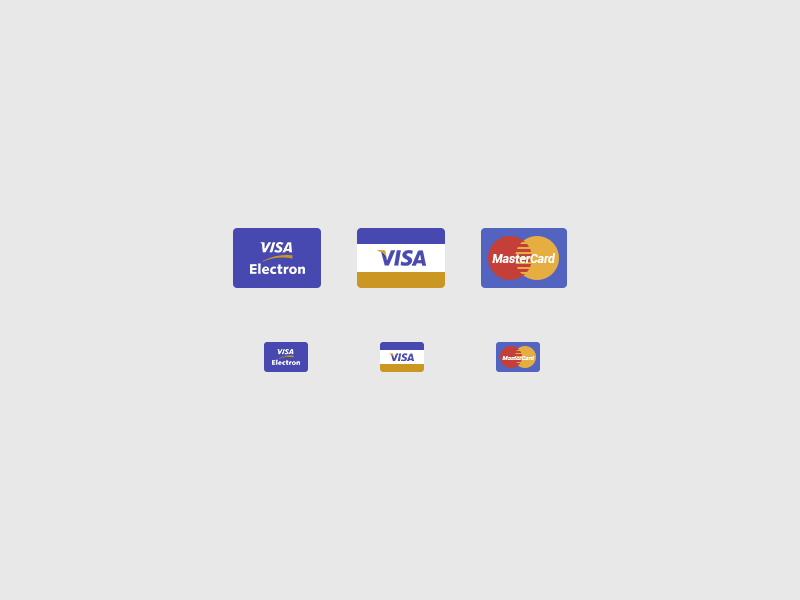 Credit Card Icons PSD Free