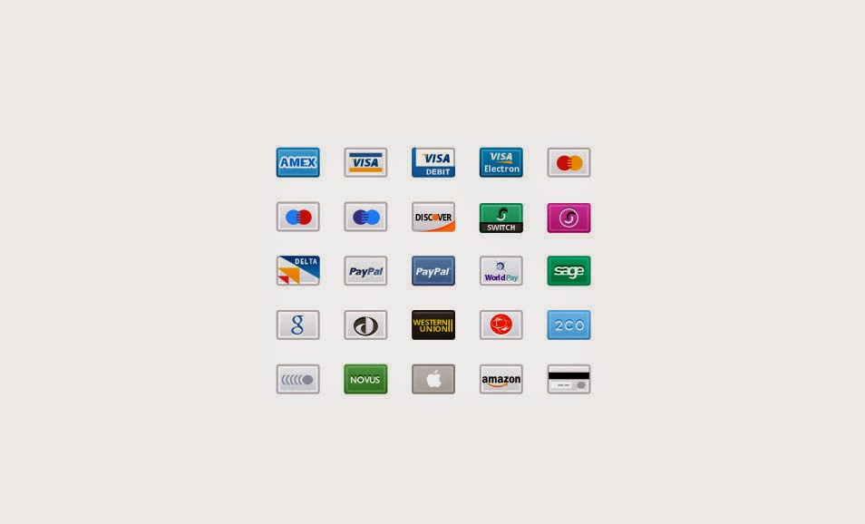 Credit Card Web Icons PNG