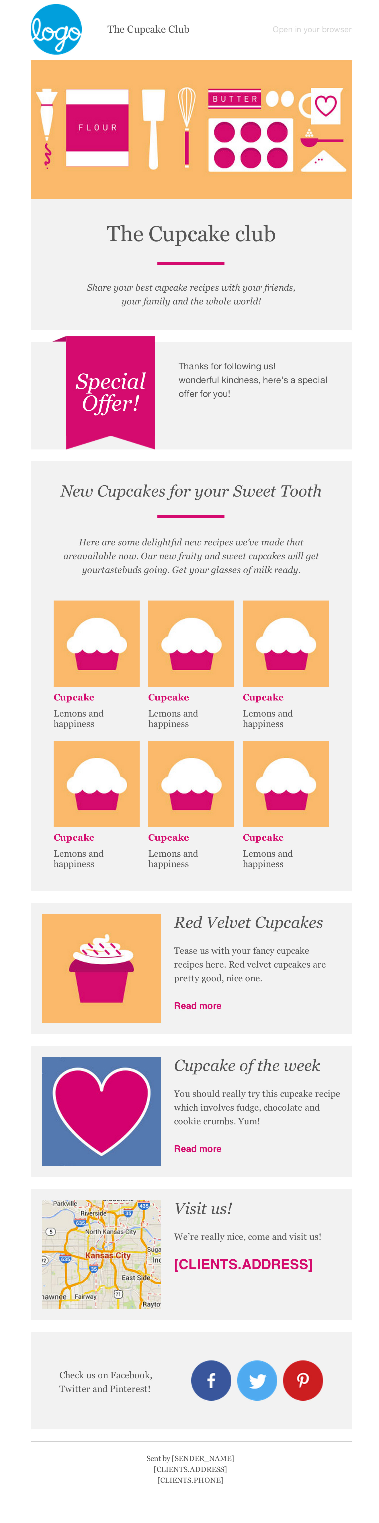 Cupcake Email Newsletter Template