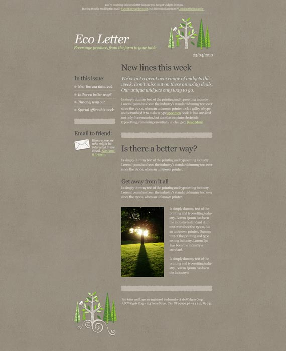 Eco Email Newsletter Template