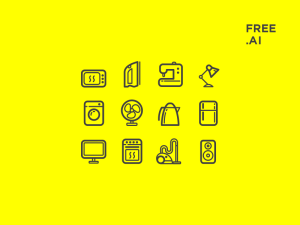 Free Appliances Icons AI Download
