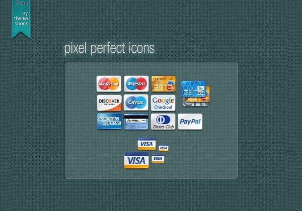Free Credit Card Icons PSD