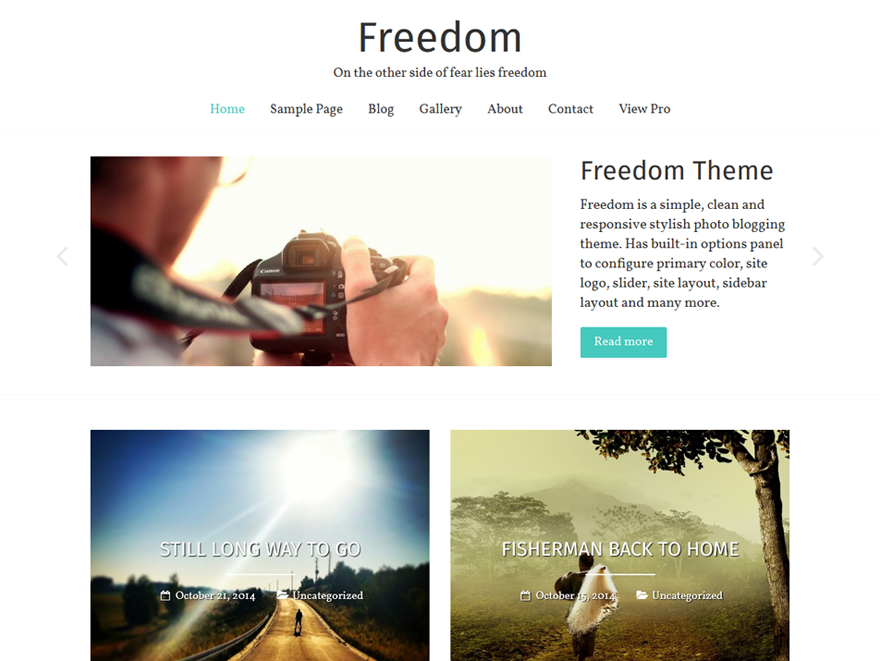 Freedom WordPress Photography Theme
