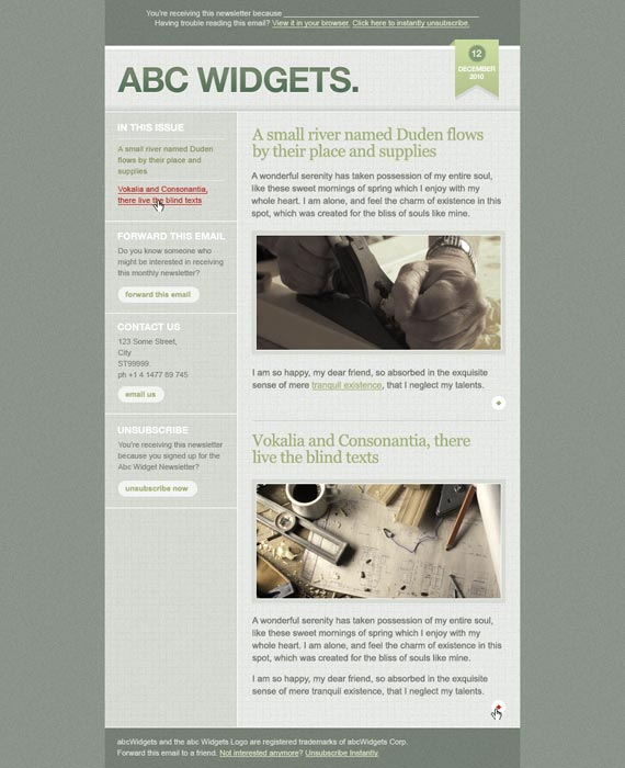 Gridworks Email Newsletter Template