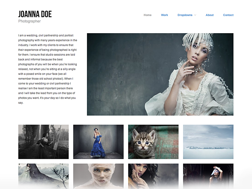 Hatch WordPress Photography Theme