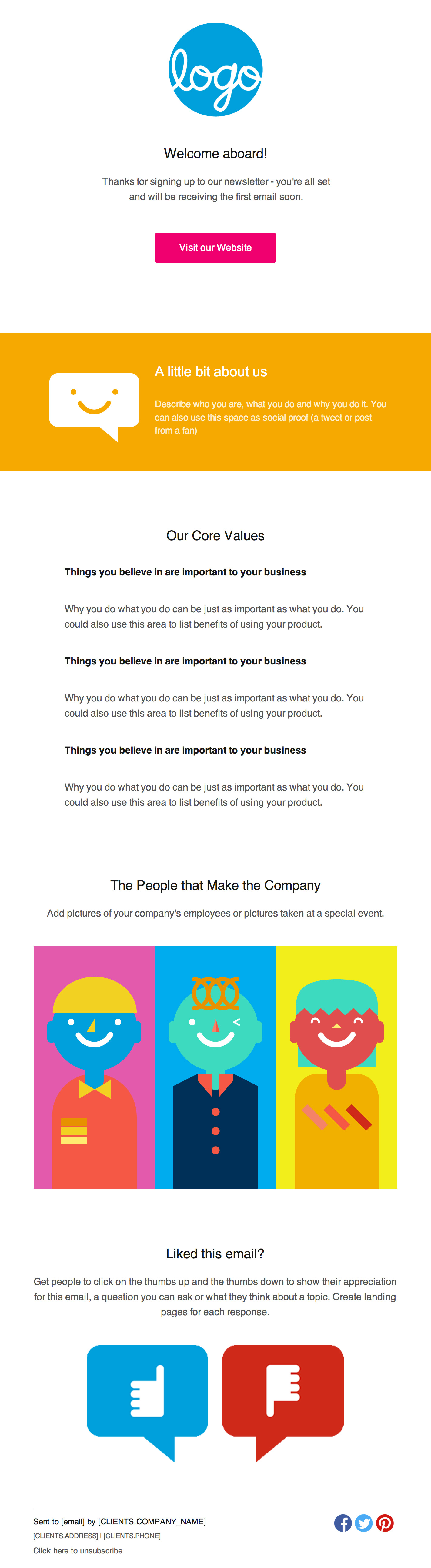 Introductions Email Newsletter Template