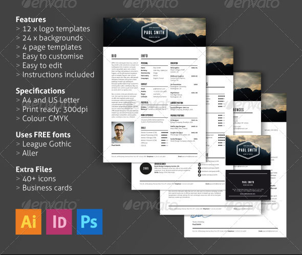 Job Resume Template PSD