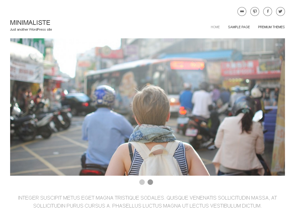 Minimaliste WordPress Photography Theme