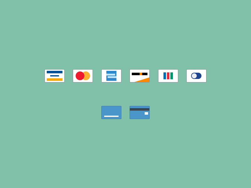 PSD Credit Card Icons