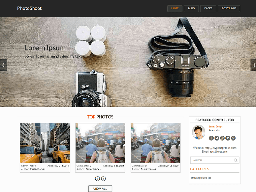 Photoshoot WordPress Photography Theme