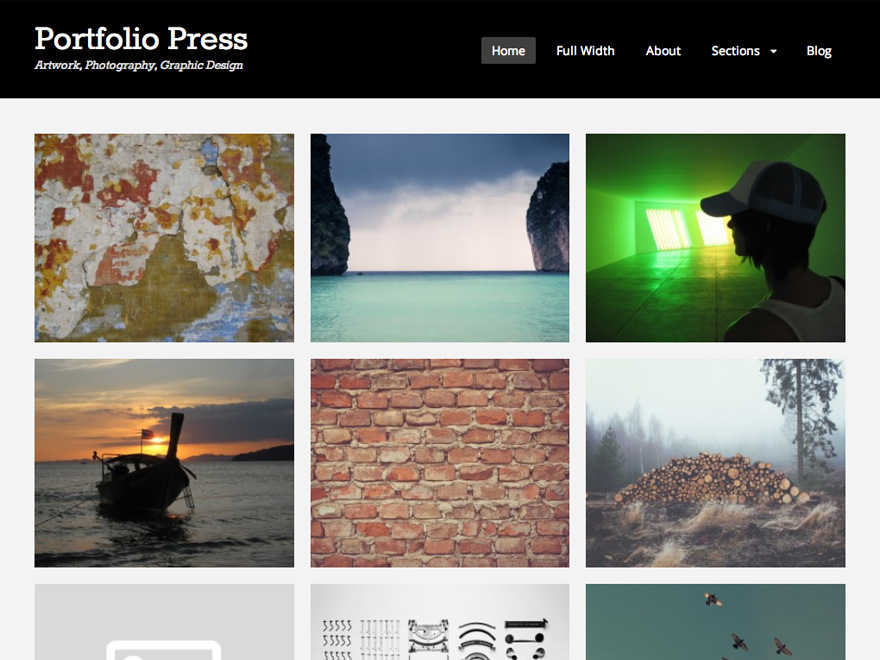 Portfolio Press WordPress Photography Theme